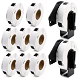 Label KINGDOM Compatible Rolls Replacement for DK-1204 Die-Cut Multipurpose Paper Label, 2/3
