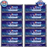 Crest 3D White Luxe Whitestrips Professional Effects Teeth Whitening - 20 Strips 10 Pouches