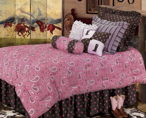 Pink Paisley Bedding 2148 front