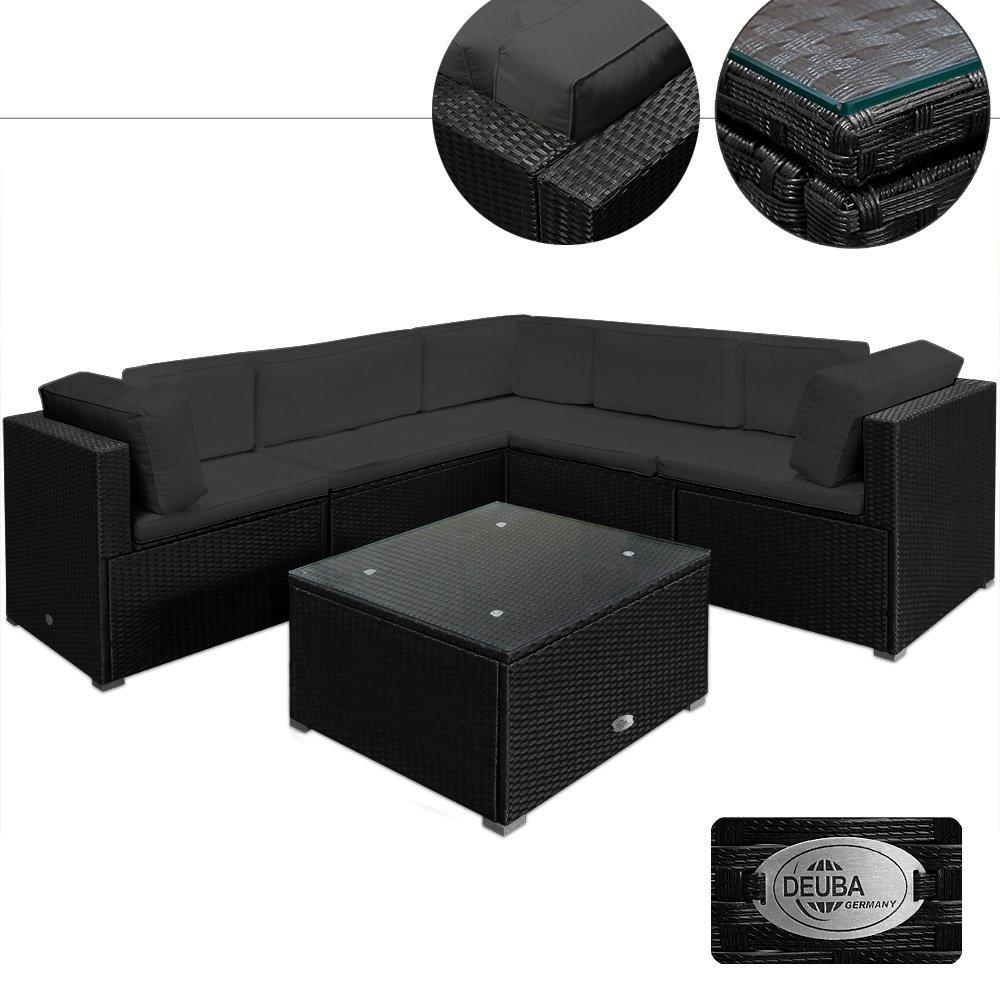 20tlg Medium Rattan Lounge Set XXL Rückenkissen Gartenmöbel Gartenset Sitzgruppe Sitzgarnitur