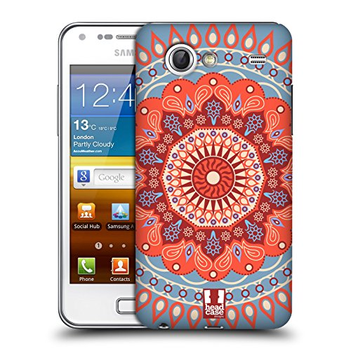 Head Case Designs Circo Mandarino Mandala Cover Retro Rigida per Samsung Galaxy S Advance I9070