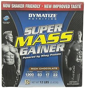 Dymatize Super Mass Gainer, Rich Chocolate, 12 LBS