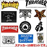 THRASHER (スラッシャー) 10 Sticker Pack 10種類入りステッカーセット 【アソート】 [並行輸入品]