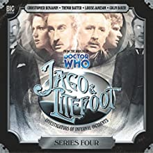 Jago & Litefoot Series 04 Radio/TV Program by Nigel Fairs, John Dorney, Matthew Sweet, Justin Richards Narrated by Christopher Benjamin, Trevor Baxter, Lisa Bowerman, Conrad Asquith, Colin Baker, Louise Jameson