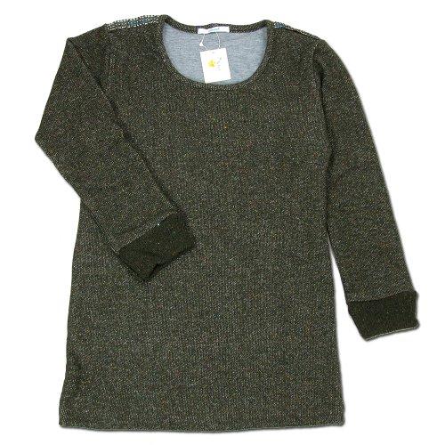 (コバノ) cobano 7SLEEVE TEE ウールレディース2/3スリーブTシャツ OLIVE