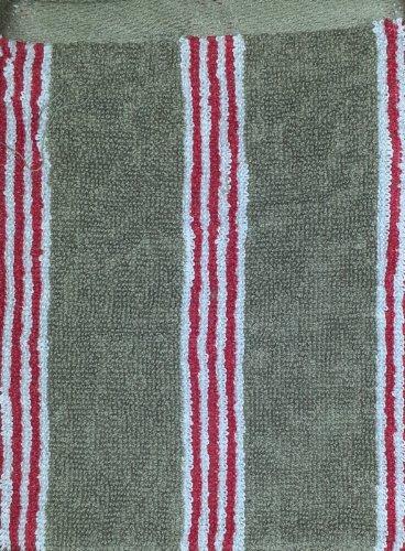 at home with marieke natural stripe gant de toilette rouge 16 x 22 gants et carr s de toilette. Black Bedroom Furniture Sets. Home Design Ideas