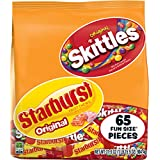 Skittles and Starburst Original Fun Size Candy Bag, 65 Count