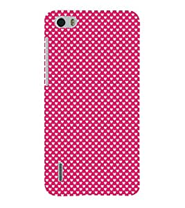 Valentines Day pattern 3D Hard Polycarbonate Designer Back Case Cover for Huawei Honor 6