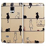 Bfun Packing Bcov Black Cat White Cat Leather Wallet Cover Case For Samsung Galaxy S6