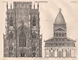 ARCHITECTURE. York Cathedral (west front); Pisa Cathedral. (west front), 1898