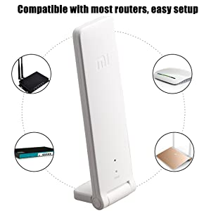 WiFi Range Extender, Xiaomi WiFi Repeater 2 WiFi Signal Booster Universal WiFi Amplifier 300Mbps 802.11n Wireless USB WiFi Extenders Signal Booster (W