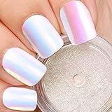 PrettyDiva Unicorn Nail Powder - Indigo Mermaid Nail powder Aurora Nail Pigment, Neon Iridescent Chrome Nail Powder for Nail Art (Color: #08)