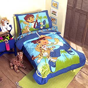 Go diego go adventure 4pc toddler bedding set for Go diego go bedding