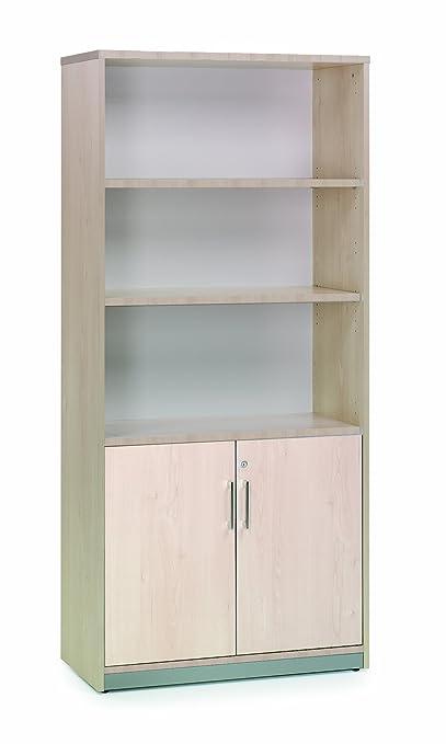 Rocada 1103AA01195x 90x 45cm armario de media puertas estantes-Haya