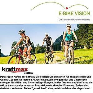 E-Bike Vision Powerpack Akku für Bosch 36V Classic Antrieb - 17 AH / 612 WH - NEUESTE VERSION (für Haibike eQ / xduro / KTM / Kreidler / Merida / Scott / Panther / VSF uvm.) - Kraftmax Edition