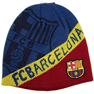 Amazon.com : Official FC Barcelona Beanie Knit Hat Cap