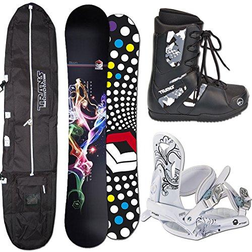 FTWO Damen Snowboard Set BLOOM 157 cm + Bindung + Boots + Bag
