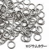 丸カン パーツ/手芸材料 【5mm/ロジウムカラー】10g