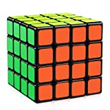 D-FantiX Yj Moyu Guansu 4x4 Speed Cube Puzzle Cube Black 62mm (Color: Black)
