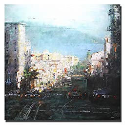 Bay Mist by Mark Lague Premium Gallery-Wrapped Canvas Giclee Art (Ready-to-Hang)