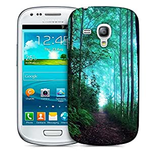 Snoogg Green Forest Designer Protective Phone Back Case Cover For Samsung Galaxy S3 Mini