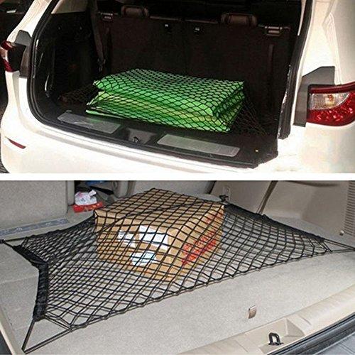 ecooltek filet de cargo bande lastique pour coffre de voiture maille filet extensible avec 4. Black Bedroom Furniture Sets. Home Design Ideas