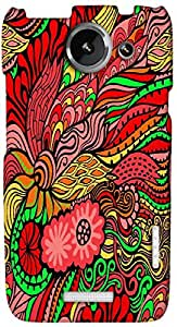 Timpax Light Weight Hard Back Case Cover Printed Design : A colourful abstract design.100% Compatible with HTC X+ ( Plus )