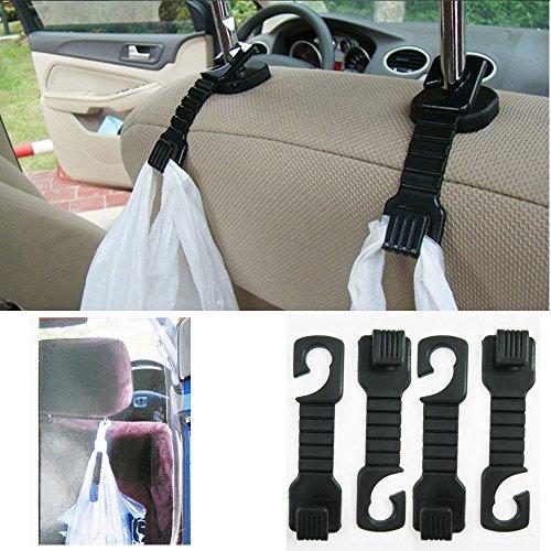 Auto Mini Vehicle Hangers Universal Car Seat Back Hanger Organizer Hook Headrest Luggage Holder(4pcs/set)