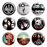 My Chemical Romance MCR Pinback Buttons Pin Badges 1 Inch (25mm) - Pack of 9
