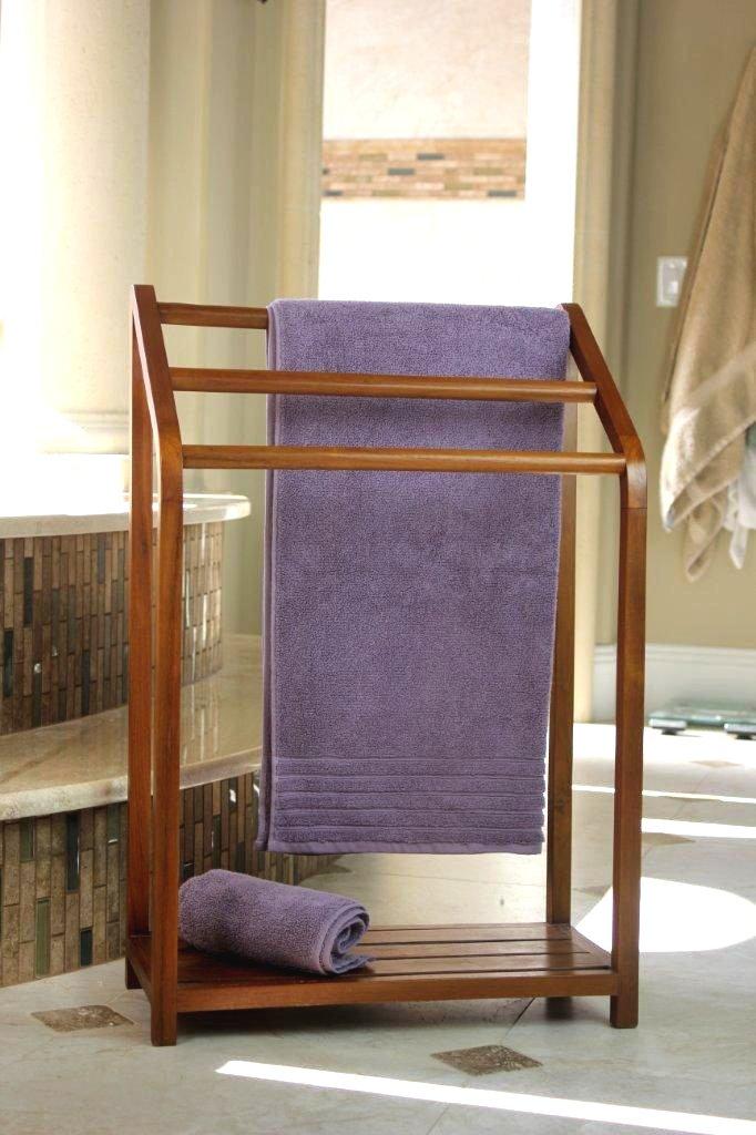 versatile teak towel rack