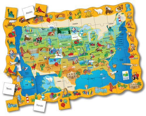 Cheap Fun The Learning Journey Puzzle Doubles Find It! USA Floor Puzzle (B000F901KA)