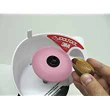 JoolTool Scotch-Brite Pink Radial Bristle Brush Assembled with Plastic Tapered Mandrel Hub, Pumice