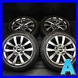 【中古スタッドレスタイヤ】【送料無料】4本セット ブリヂストン ブリザック RFT 205/55R16  /   モーテック グレン 16x7.0 35 120-5穴  BMW、1シリーズ、3シリーズに! 中古タイヤ W16161014027