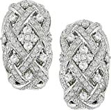 18k White Gold 1 7/8ct TDW Diamond Earrings