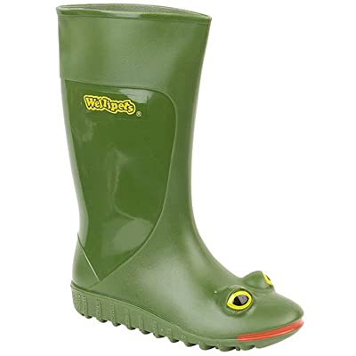 Childrens 'Wellipets Frog' School Wellington Boots art no 7371