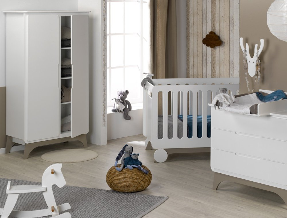 Babyzimmer komplett Bonheur weiß Lein