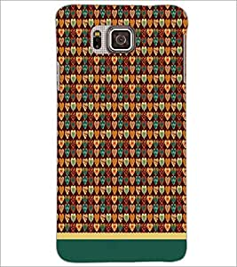 PrintDhaba Heart Pattern D-1665 Back Case Cover for SAMSUNG GALAXY ALPHA (Multi-Coloured)