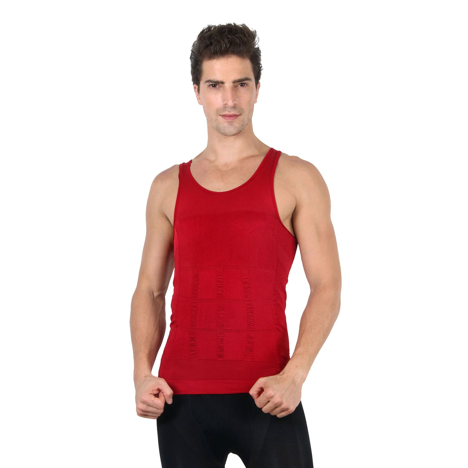 HOTER® Mens Slimming Body Shaper Vest Shirt Abs Abdomen Slim, 5 Colors to Choose new wireless smart multi function ems abdominal training device hous abdominal muscles loss slimming massager abs fit abdomen