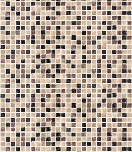 Brewster 414-59632 Corfu Brown Tiles Wallpaper