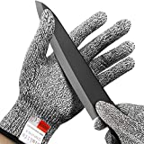 Simlife Cut Resistant Gloves - Level 5 Protection,Lightweight,Breathable,Durable and Extra Comfortable(Small)