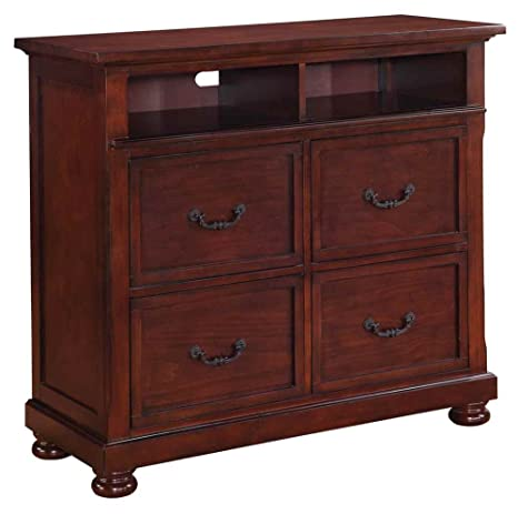 Coaster Hannah Media Chest-Dark Cherry