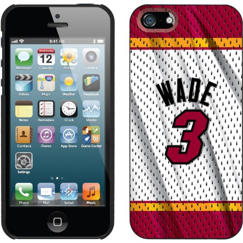 Best Price Dwyane Wade - Home Jersey Back design on a Black iPhone 5s / 5 Thinshield Snap-On Case by Coveroo