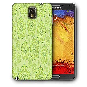 Snoogg Green Pattern Printed Protective Phone Back Case Cover For Samsung Galaxy NOTE 3 / Note III