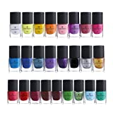 BORN PRETTY 6ml Nail Art Stamping Polish Candy Color Manicure Plate Printing Lacquer Varnish 25 Colors Set