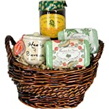 Green Olives and Green French Gourmet and Soapy Gift Basket ~ European Gift Baskets