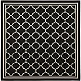 "Safavieh Courtyard Collection CY6918-226 Black and Beige Square Area Rug, 7 feet 10 inches by 7 feet 10 inches Square (7'10"" x 7'10"" Square)"