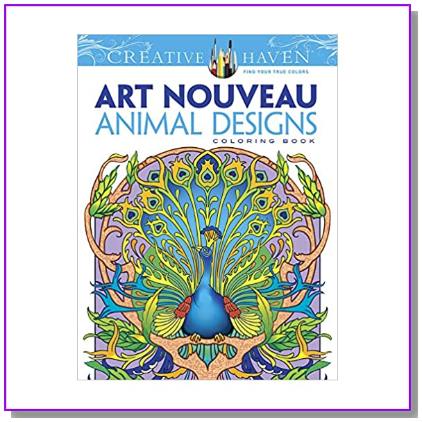 Dover Creative Haven Art Nouveau Animal Designs Coloring Book (Adult Coloring)