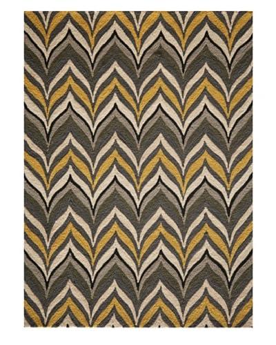 "Momeni Contemporary Rug, Yellow/Grey, 7' 6"" x 9' 6"""