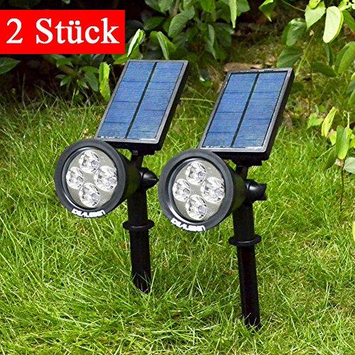 XL Solarstrahler Bewegungsmelder Außenleuchte Doppe LED Solar Leuchte Strahler