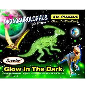 Dinosaur 3D Jigsaw Glow In The Dark Construction Kit